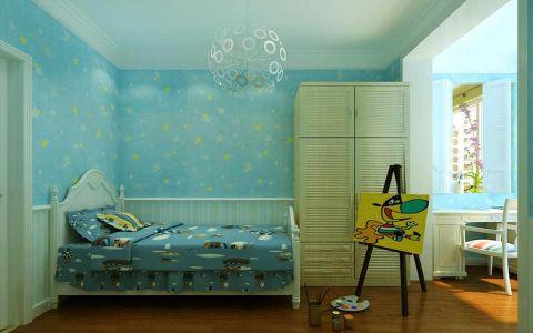 儿童房背景墙欧式风格装潢效果图