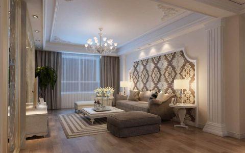 富力华庭三居室新古典风格效果图