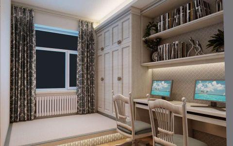 儿童房背景墙新古典风格装饰设计图片
