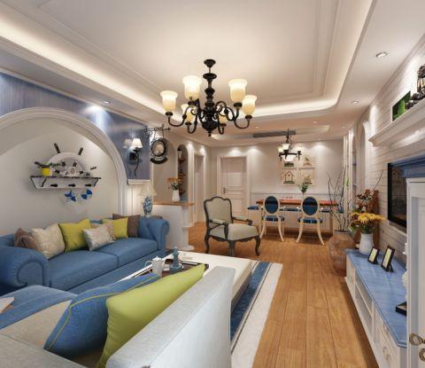 常发豪郡地中海风格三居室装修效果图