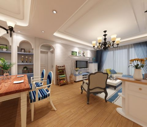 客厅走廊地中海风格装潢图片