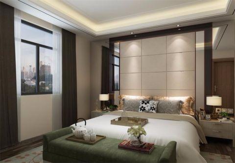 卧室现代简约风格装潢效果图