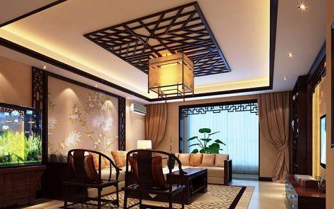 客厅窗帘中式风格效果图