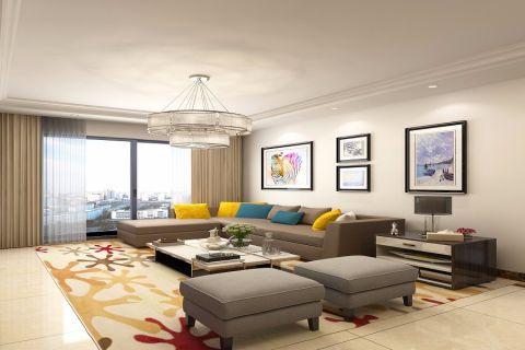 客厅混搭风格装修效果图