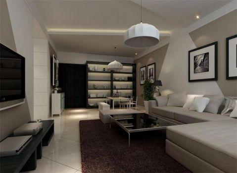 客厅现代简约风格装饰图片
