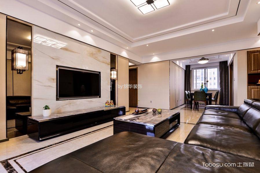 繁华里130平三室两厅新中式风格实景图