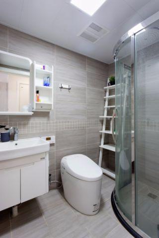 卫生间背景墙北欧风格装饰图片