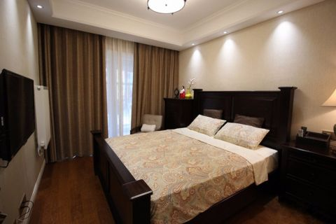 卧室背景墙欧式风格装潢设计图片