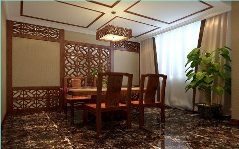 餐厅窗帘中式风格装潢效果图