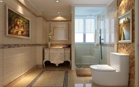 卫生间推拉门简欧风格装饰设计图片