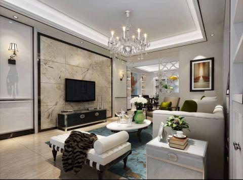 金秋豪园三房两厅两卫现代简约风格效果图