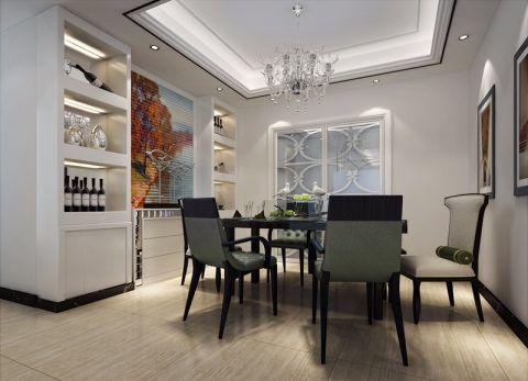 餐厅博古架现代简约风格装潢设计图片