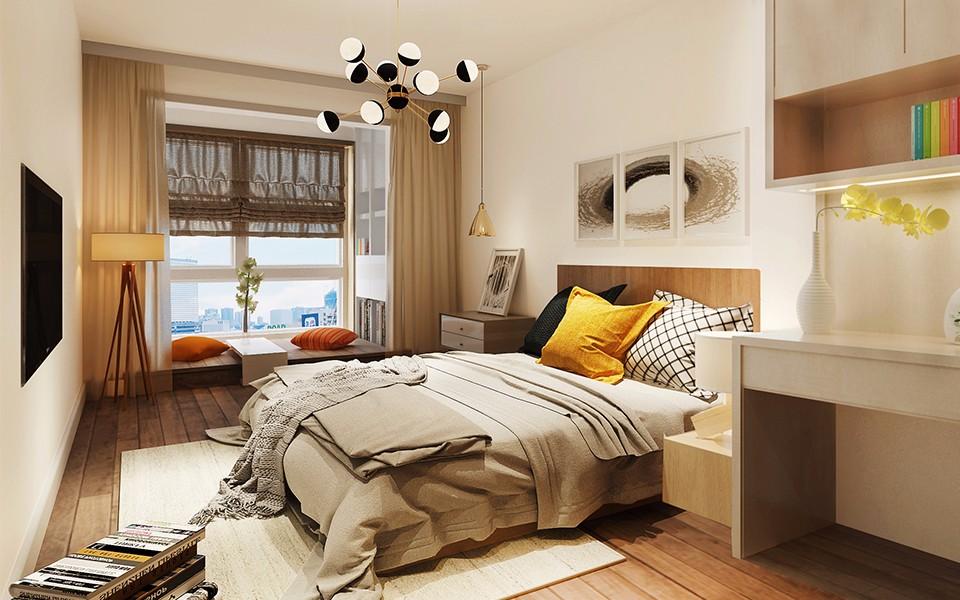 2室1卫2厅106平米日式风格