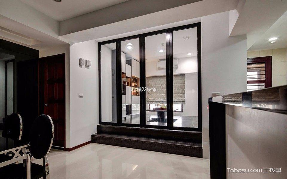 餐厅白色地砖现代风格效果图