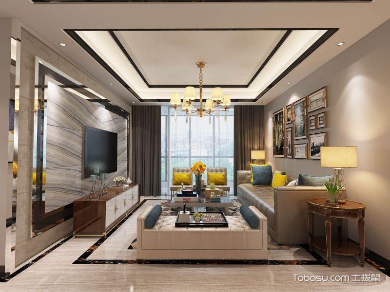 亿合城两居室现代风格装修效果图