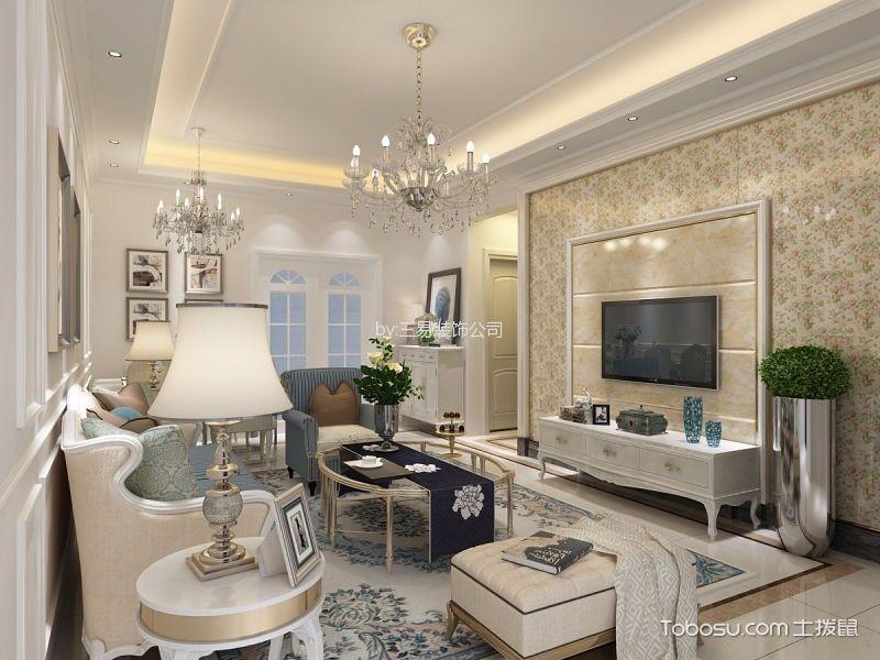 北海名坐90平米简欧风格三室两厅室装修效果图