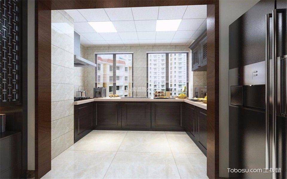 万达110平米三居室中式风格效果图
