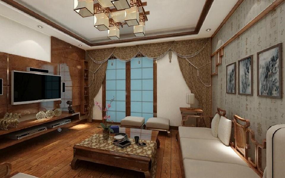 3室1卫1厅137平米中式风格