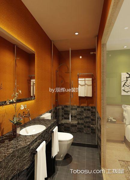 酒店豪华套件卫生间装潢效果图欣赏