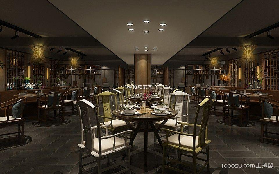 中式风格夹层餐厅设计图欣赏