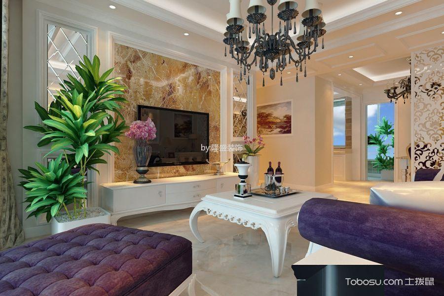 中海橙郡三居室欧式风格效果图