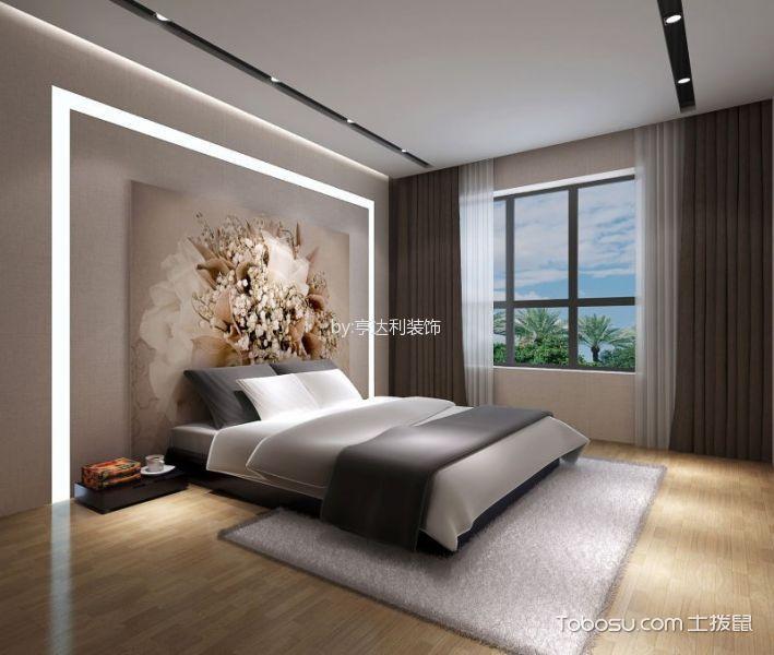 卧室灰色窗帘现代中式风格装潢图片