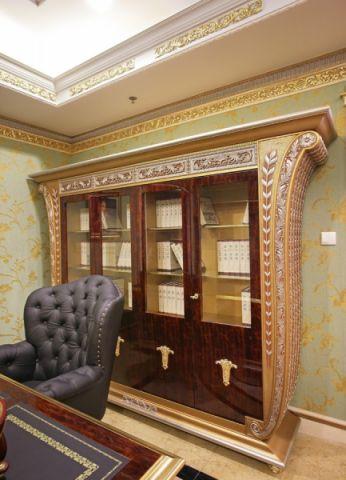 书房博古架欧式风格装修图片