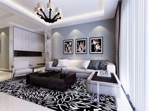 文一名门御府现代风格三居室装修效果图