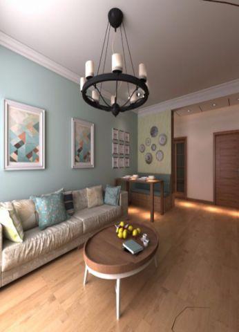荷塘悦色二居室地中海风格装修案例图