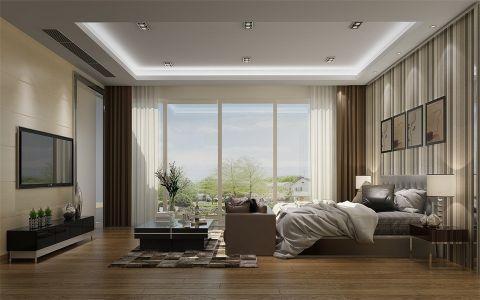 卧室背景墙美式风格装潢图片