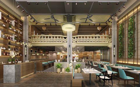 食德馆中式风格餐厅工装效果图