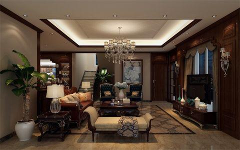 客厅吊顶美式风格装潢效果图