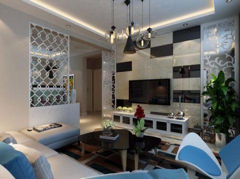 坤泽十里城110平米现代简约风格装修设计效果图