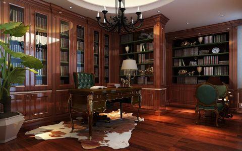 书房中式风格装潢图片
