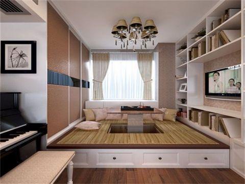 卧室博古架简欧风格装修图片