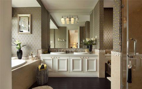 卫生间背景墙新古典风格装潢设计图片