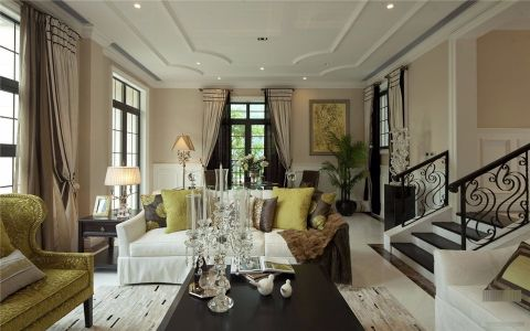 客厅走廊新古典风格效果图