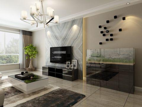 客厅吊顶现代风格装饰效果图