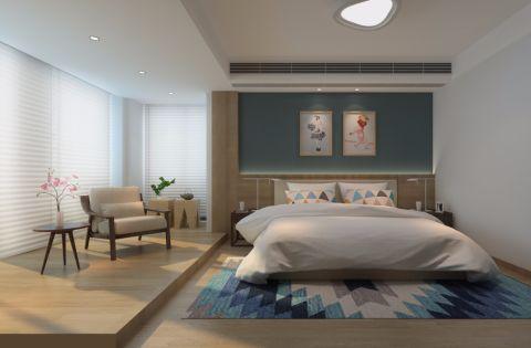 卧室吊顶日式风格装修效果图