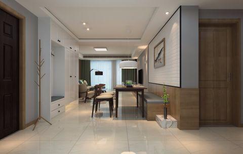 客厅背景墙日式风格装饰效果图