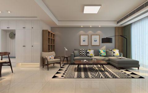 客厅窗帘日式风格装修图片