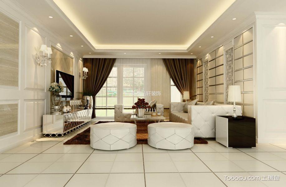 星光耀欧式风格三居室实景图