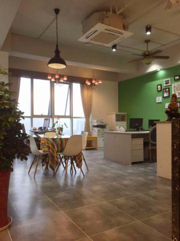 120平米混搭风格办公室工装装修效果图