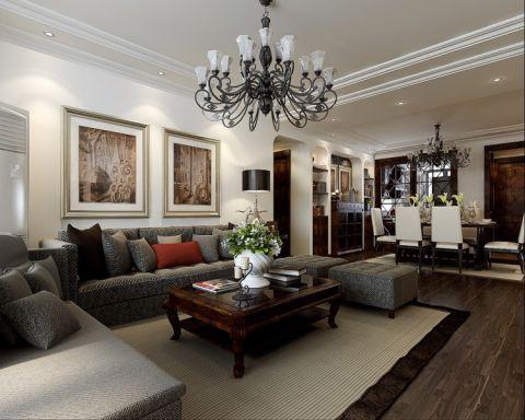 滨湖世纪城新古典风格三居室装修效果图