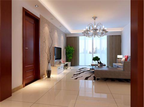 北城明珠简单装修三居室效果图