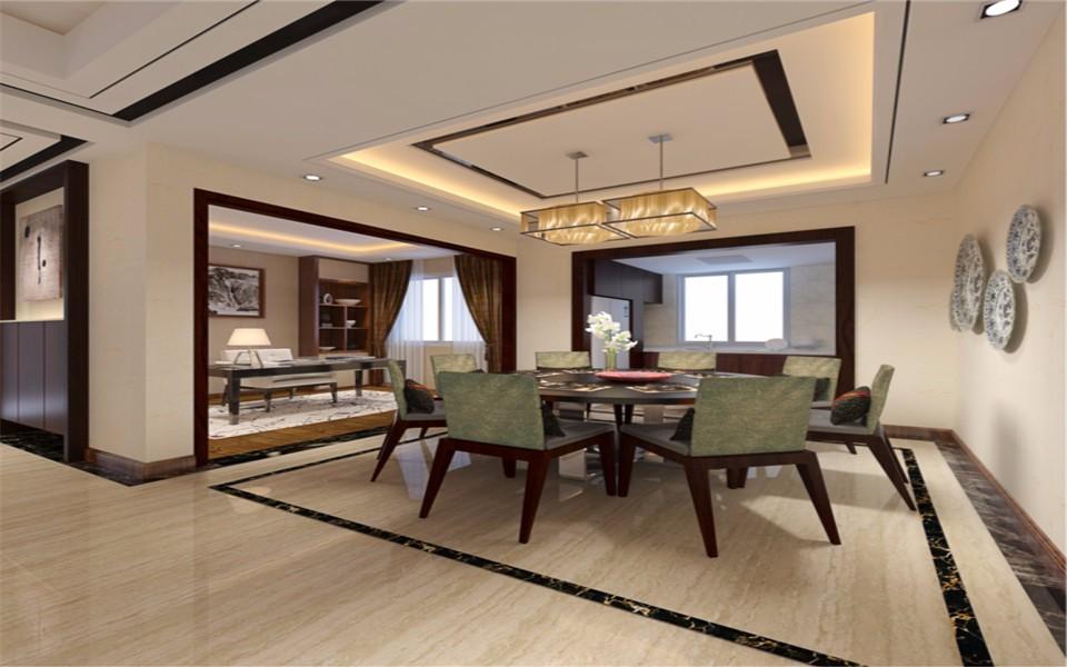 3室2卫2厅89平米新中式风格