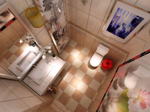 卫生间吊顶现代中式风格装修设计图片