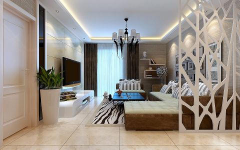 客厅隔断简约风格装饰效果图