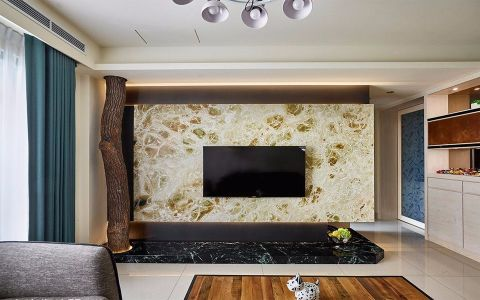 客厅混搭风格装潢设计图片