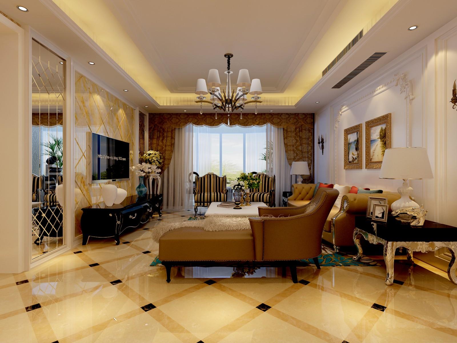 3室1卫1厅170平米欧式风格